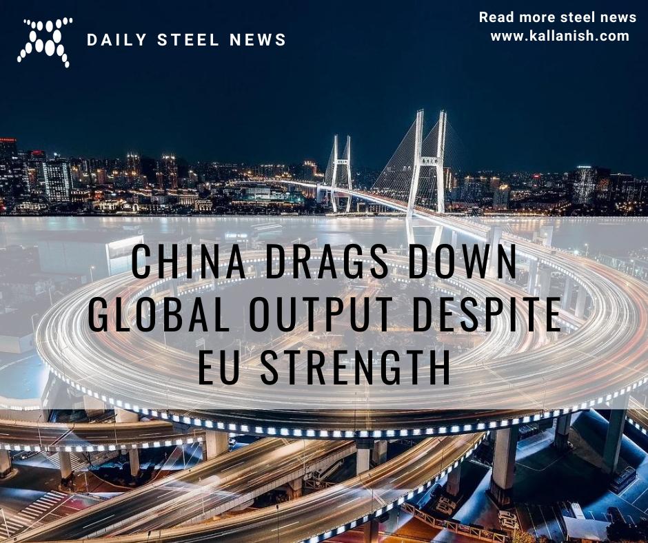 China drags down global output despite EU strength