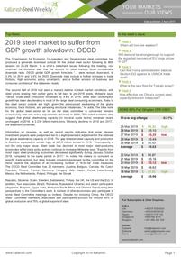2019 steel market to suffer from GDP growth slowdown: OECD